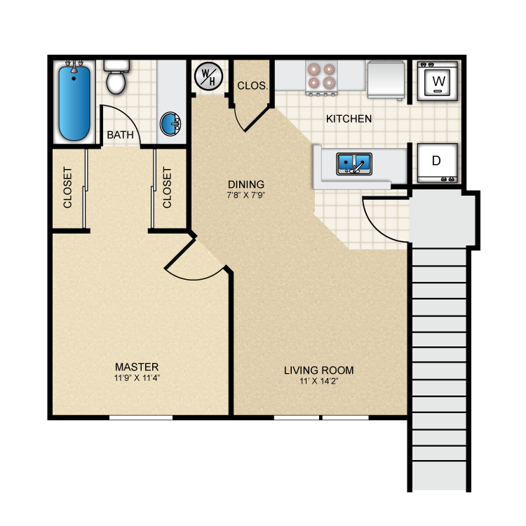 Floor plan image of Carriage House 557