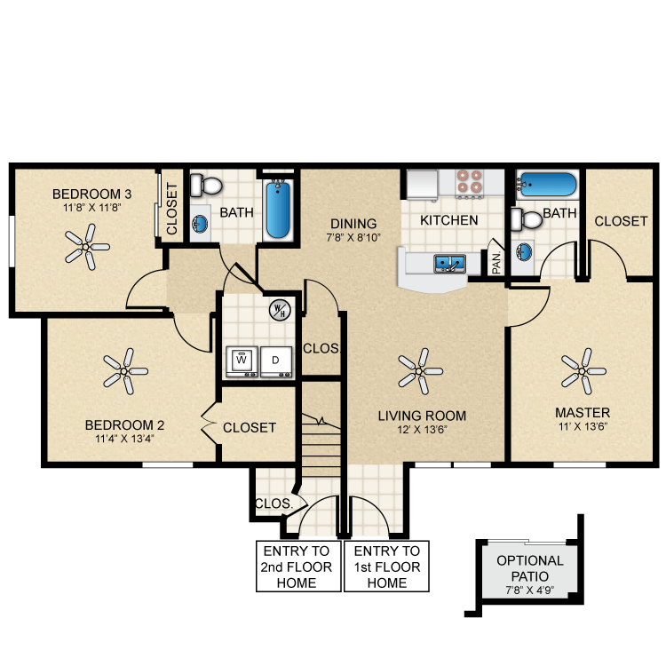 Floor plan image of Cottage 1140