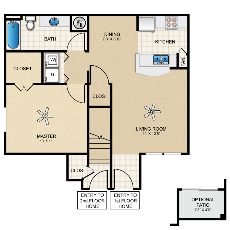 Floor plan image of Cottage 710