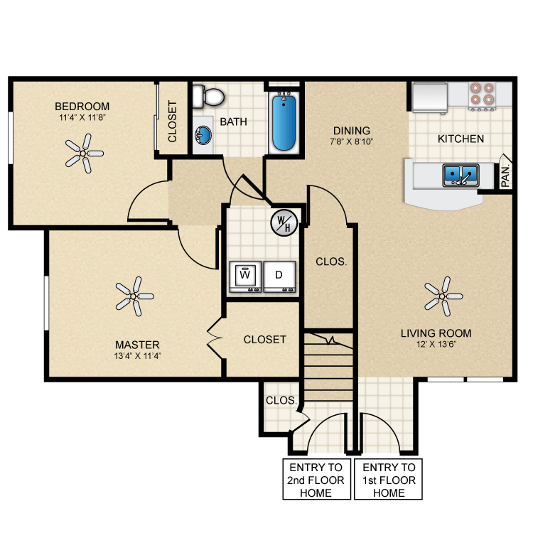 Floor plan image of Cottage 880