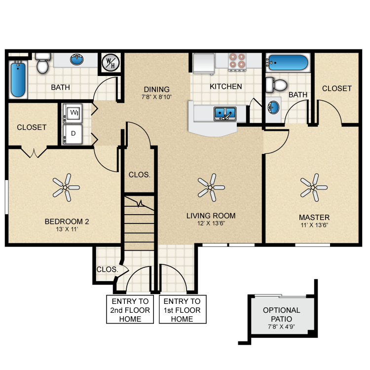 Floor plan image of Cottage 970