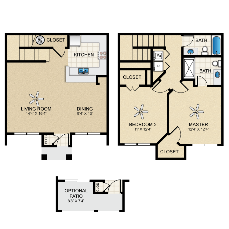 Floor plan image of Townhouse 1269