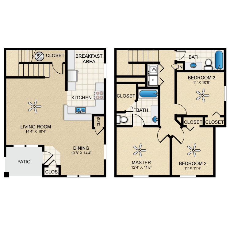 Floor plan image of Townhouse 1475