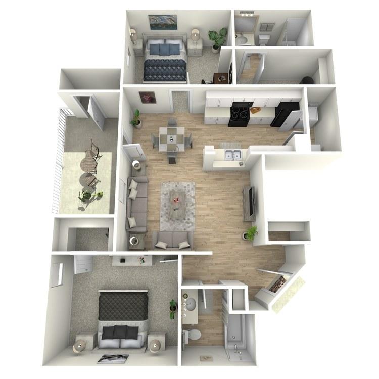 Floor plan image of Cabin