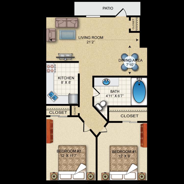 Gardenia floor plan image