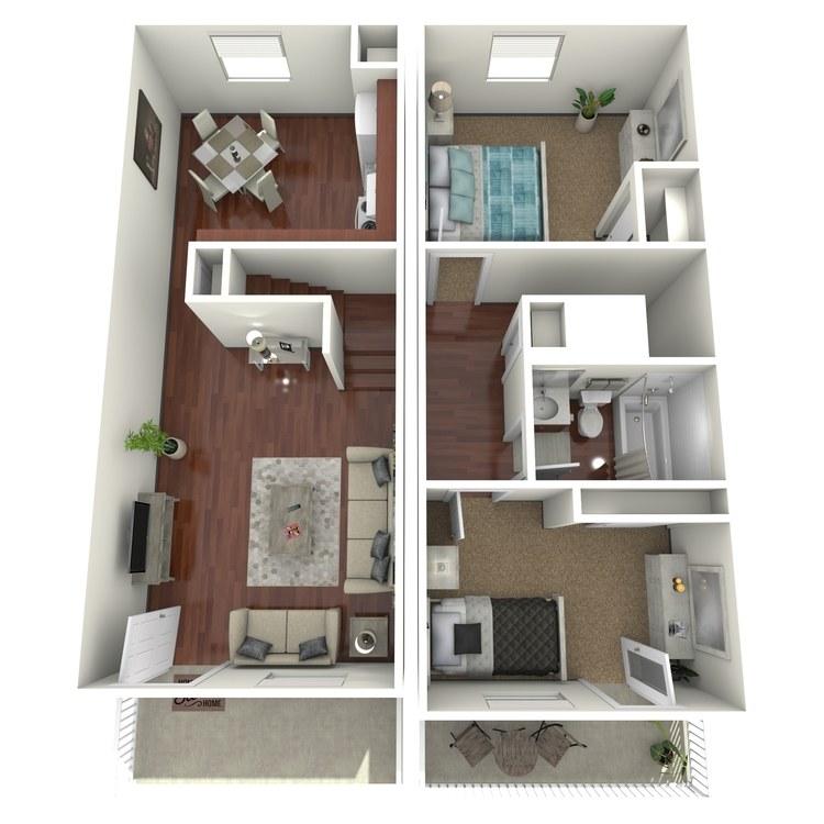 Lilac floor plan image