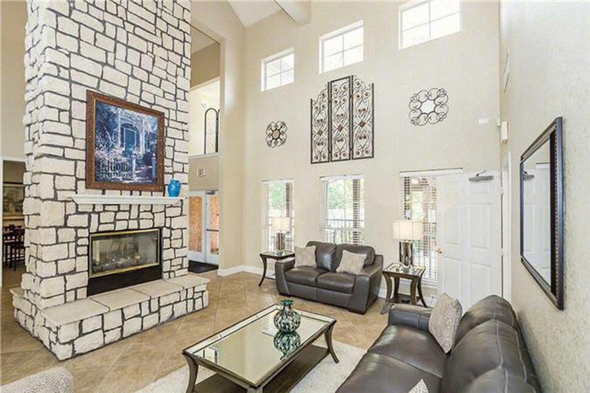 a fire place sitting in a living room
