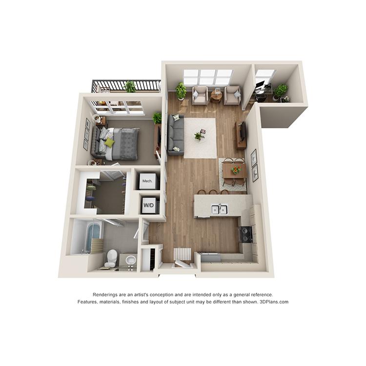 Floor plan image of 1C