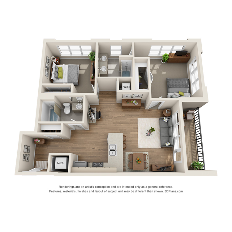 Floor plan image of 2H