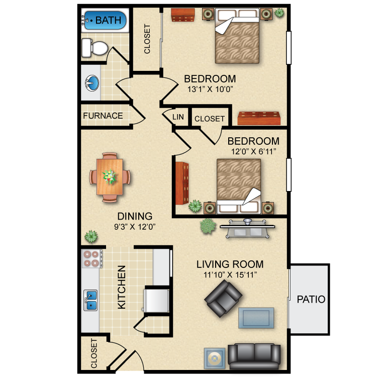 Floor plan image of The Merlot