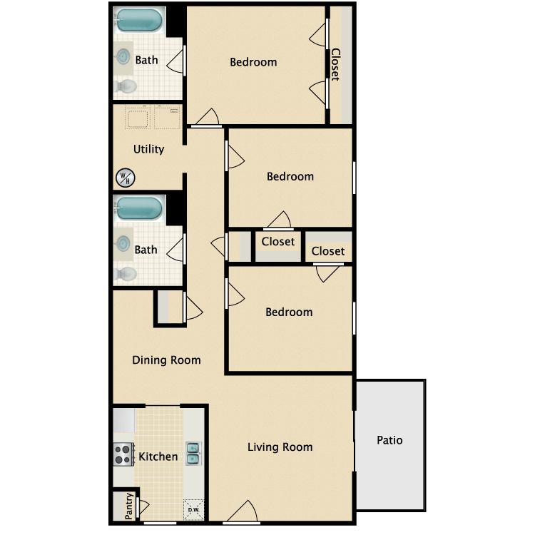3/2R floor plan image