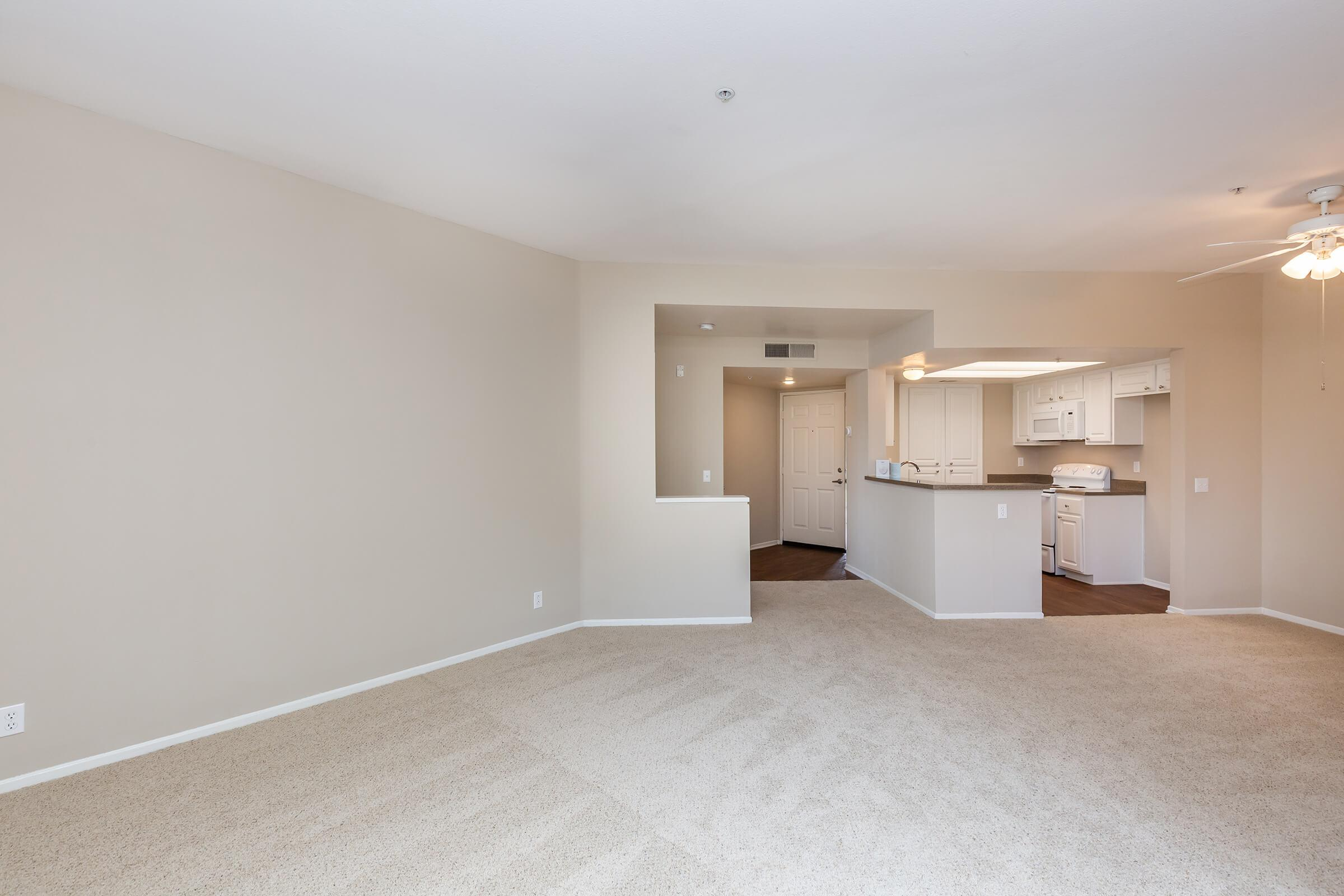 Unfurnished carpeted living room
