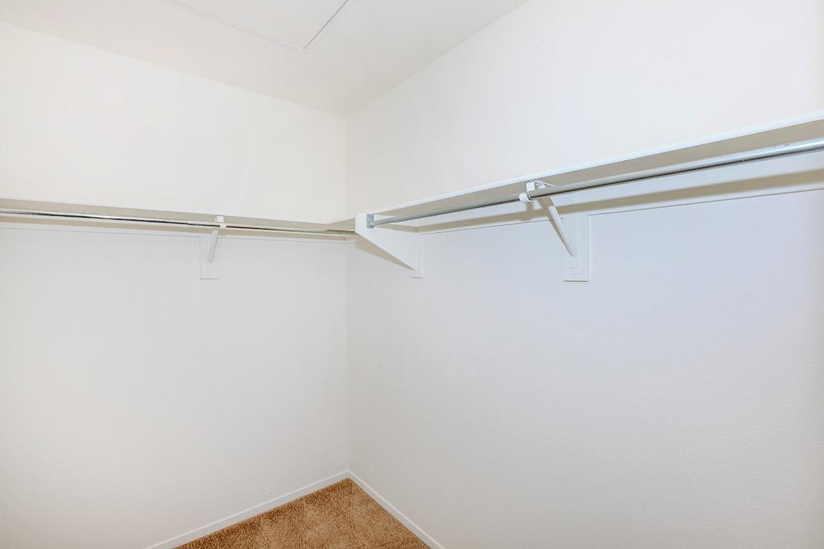 Unfurnished walk-in closet