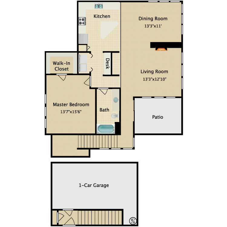 Carriage house floor plans house plan 2017 for Carriage house apartment plans
