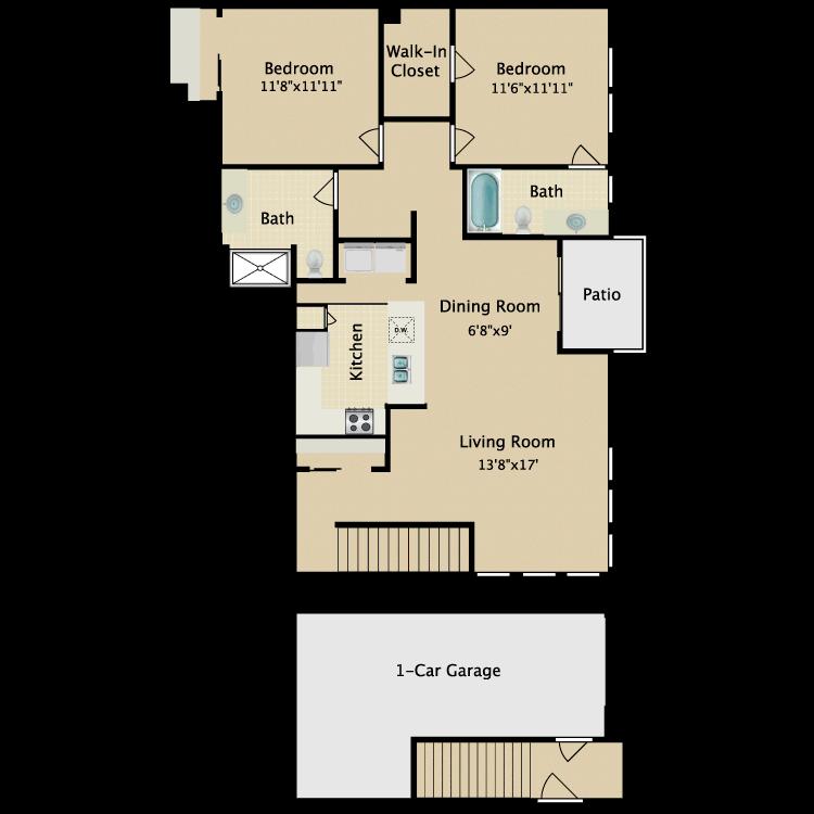 Floor plan image of Flat IV