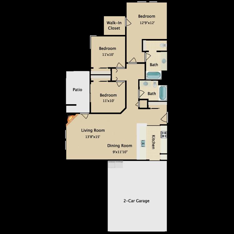 Floor plan image of Flat V