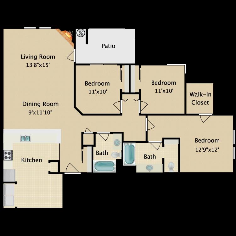 Floor plan image of Flat VII