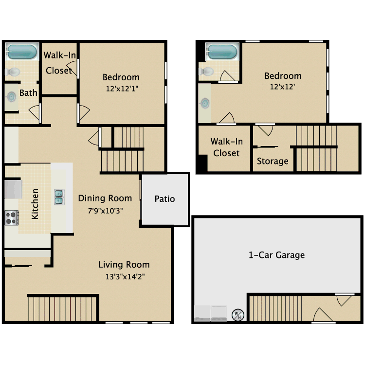 Floor plan image of Townhome I
