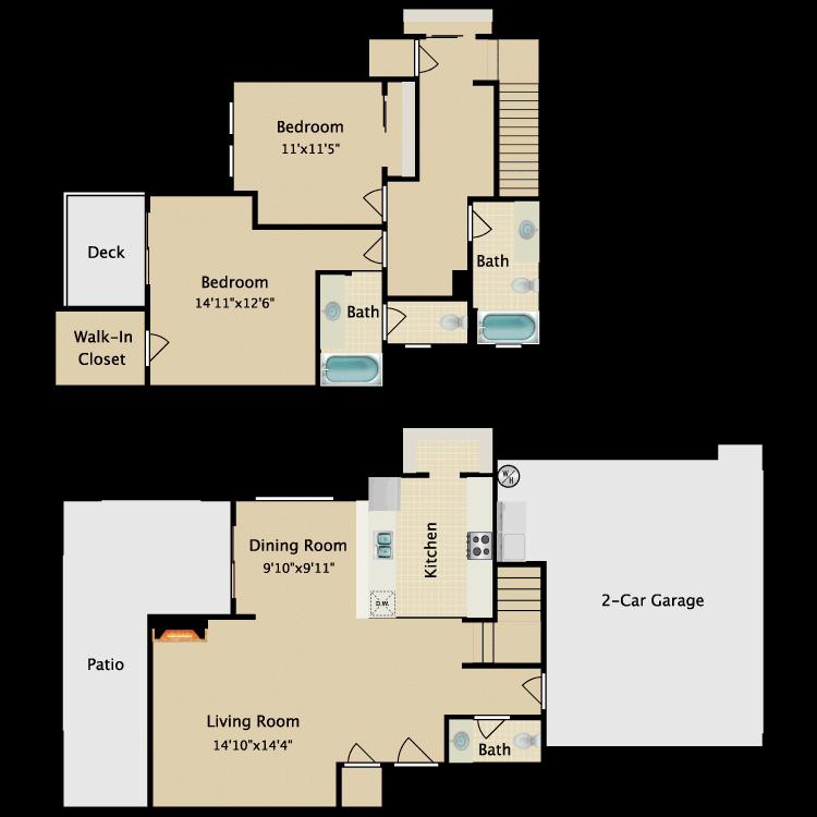 Floor plan image of Townhome II
