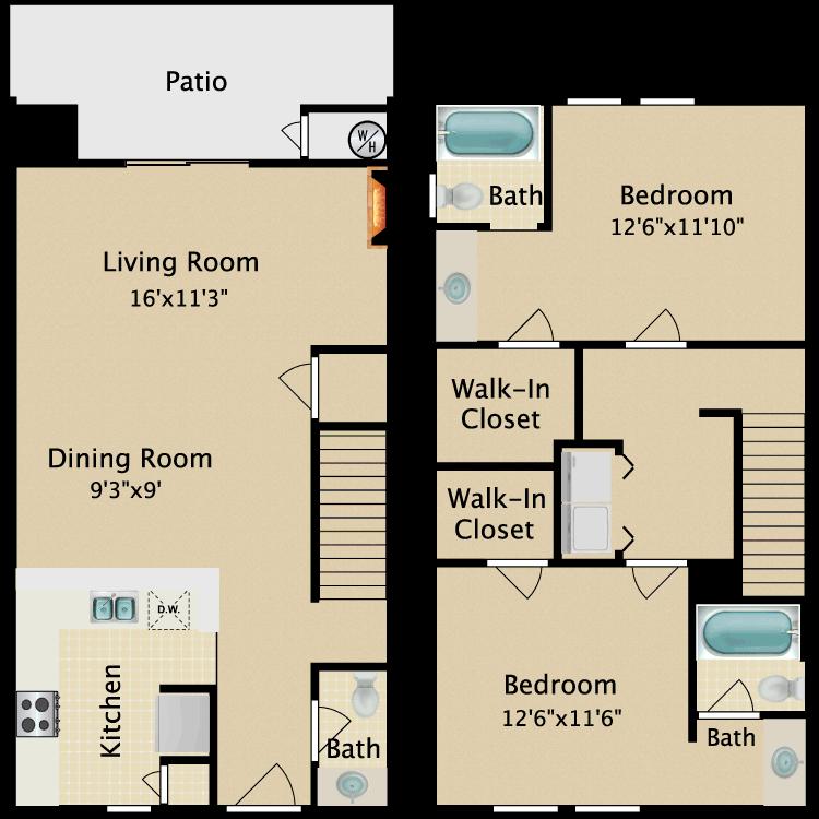 Floor plan image of Townhome III