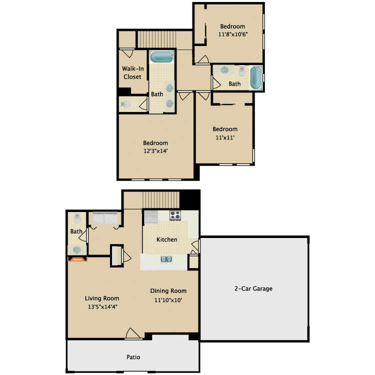 Floor plan image of Townhome IV