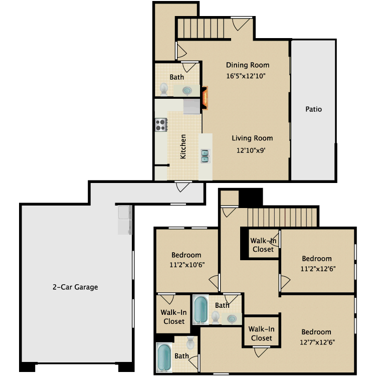 Floor plan image of Townhome V