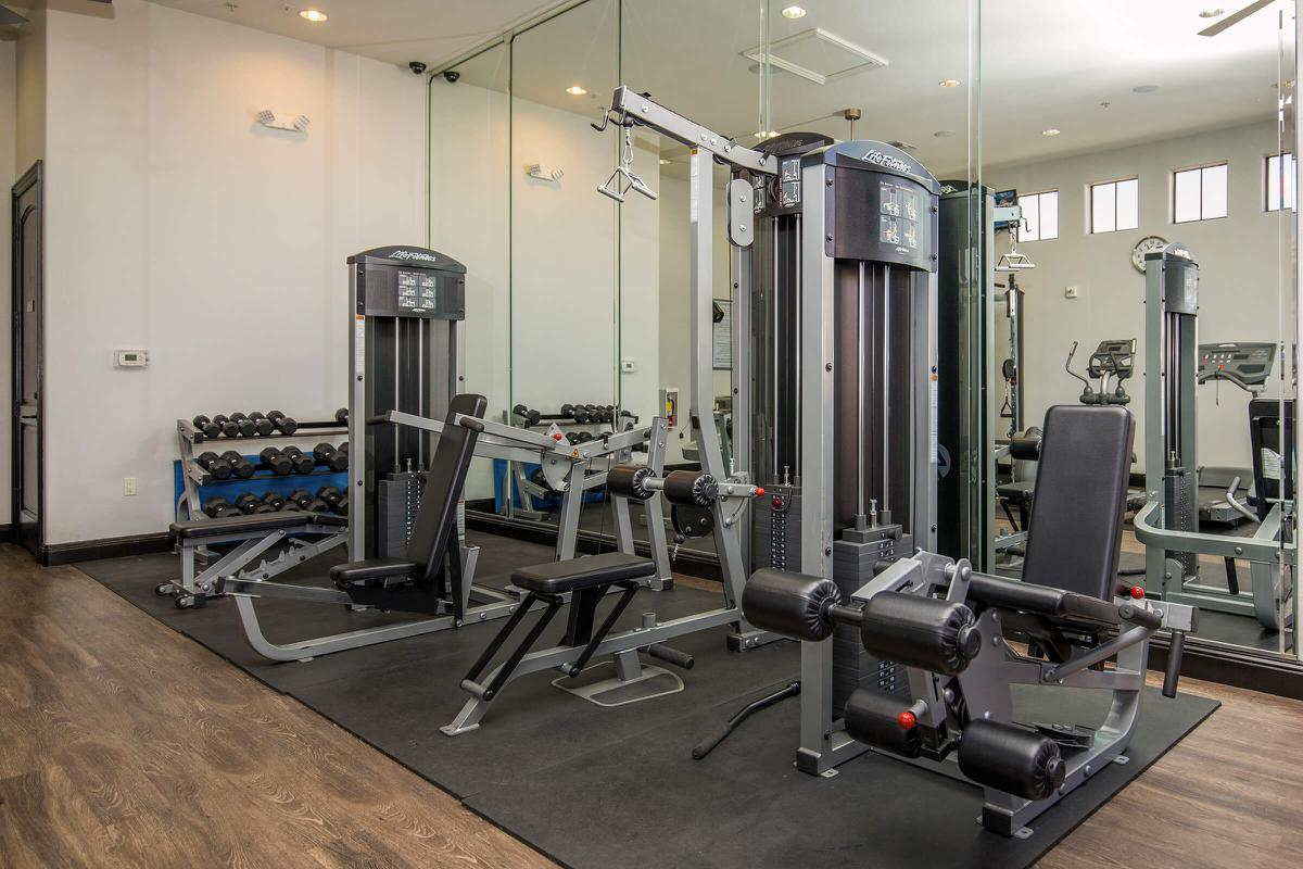 Fitness Center with Cardiovascular Equipment here at The Passage Apartments
