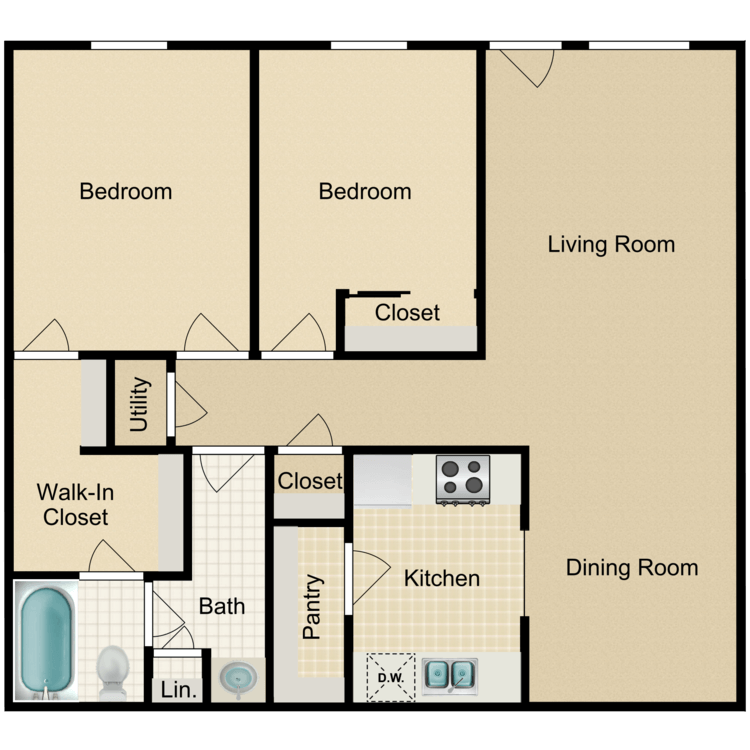 Floor plan image of Horn Island