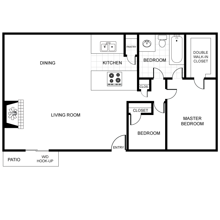 Floor plan image of Oak