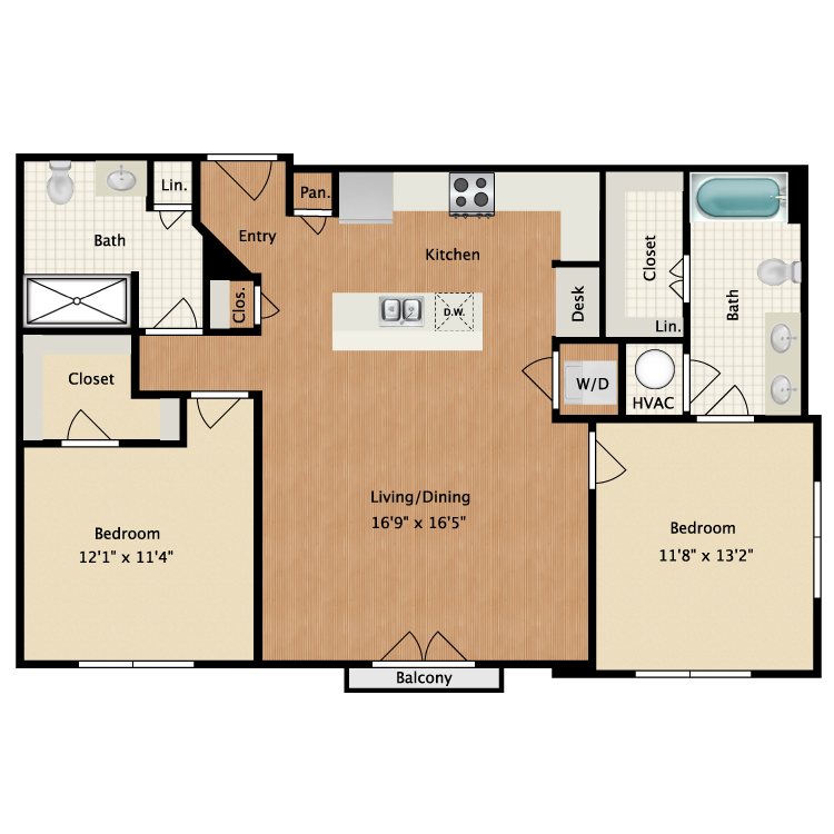 Floor plan image of Valentine