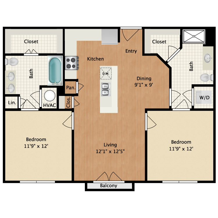 Floor plan image of Volker