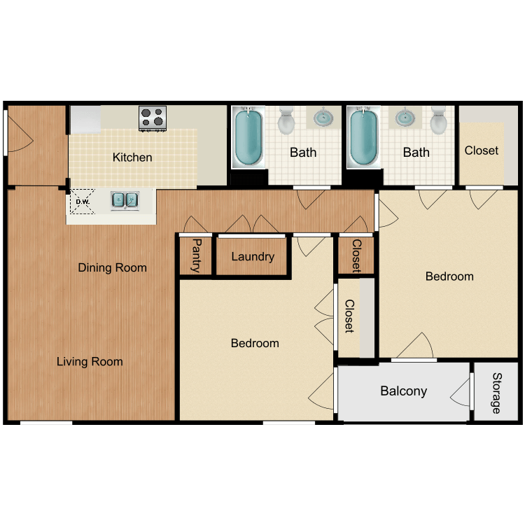 Floor plan image of The Luxe
