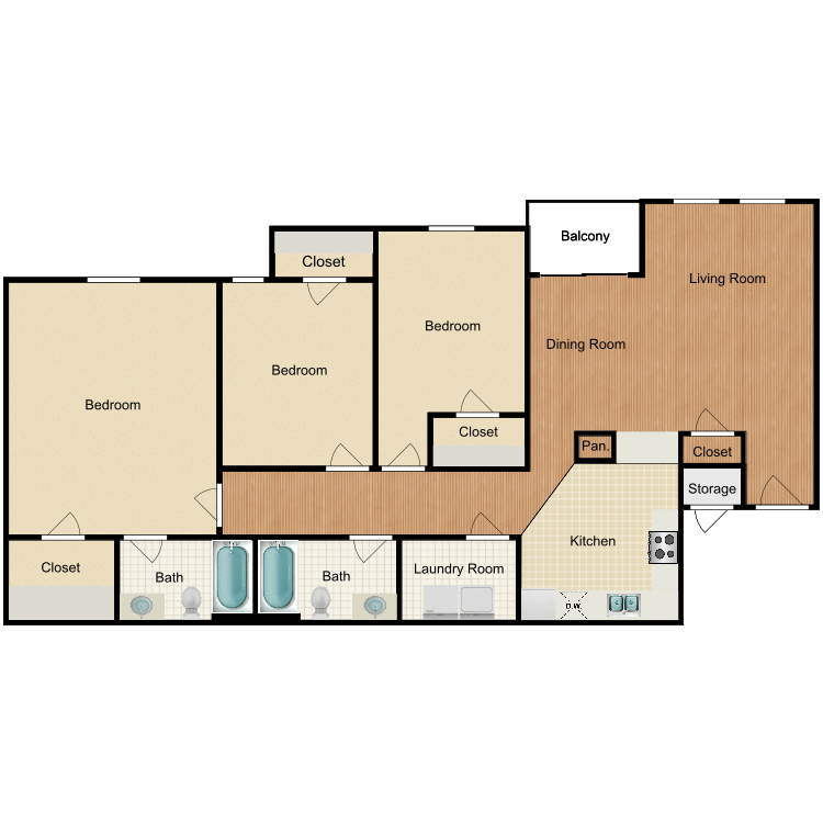 Floor plan image of The Monterey