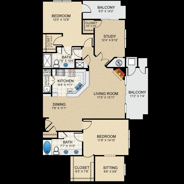 Floor plan image of B6 The Claremont