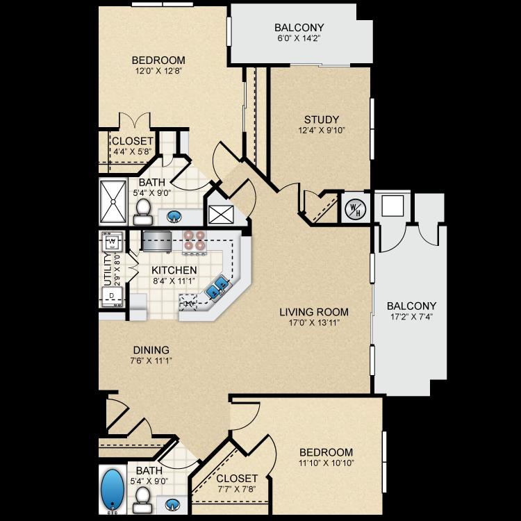Floor plan image of B5 The Essex