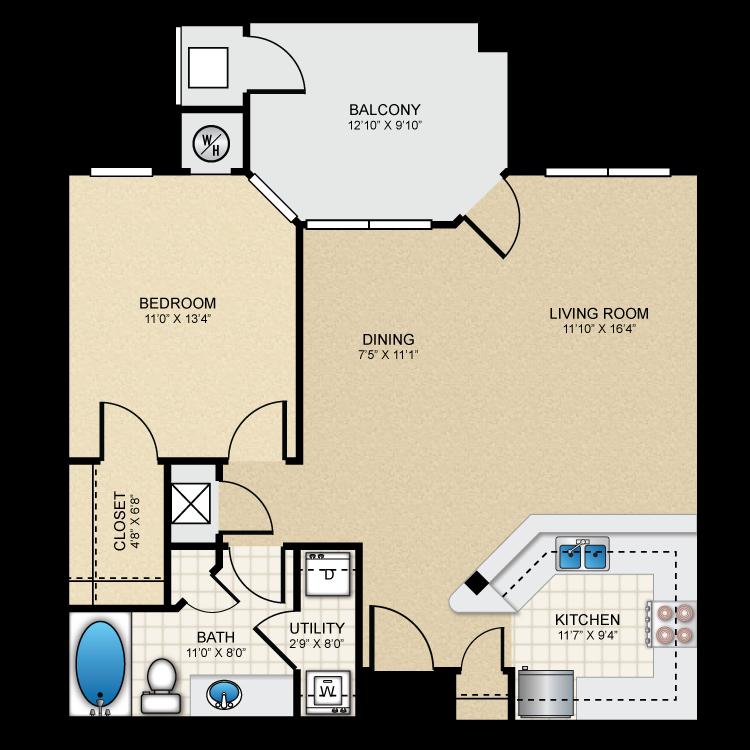 Floor plan image of A2 The Wellington