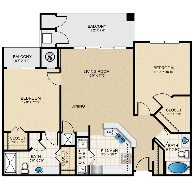 Floor plan image of B2 The Waterford
