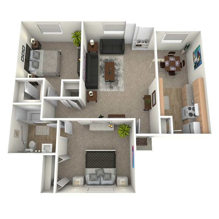 Floor plan image of B1C