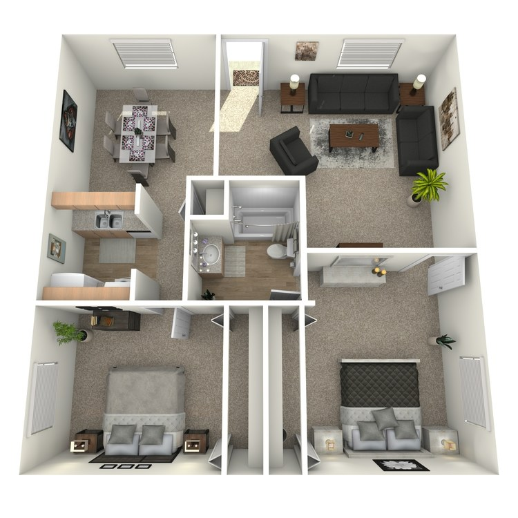 Floor plan image of B1D