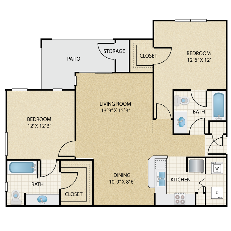 Floor plan image of Navajo