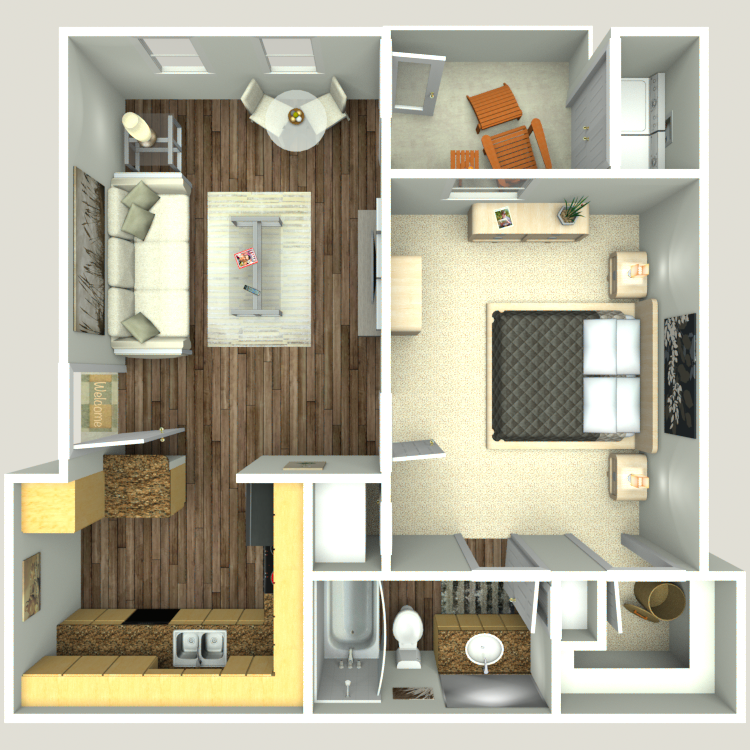 Floor plan image of A1-E