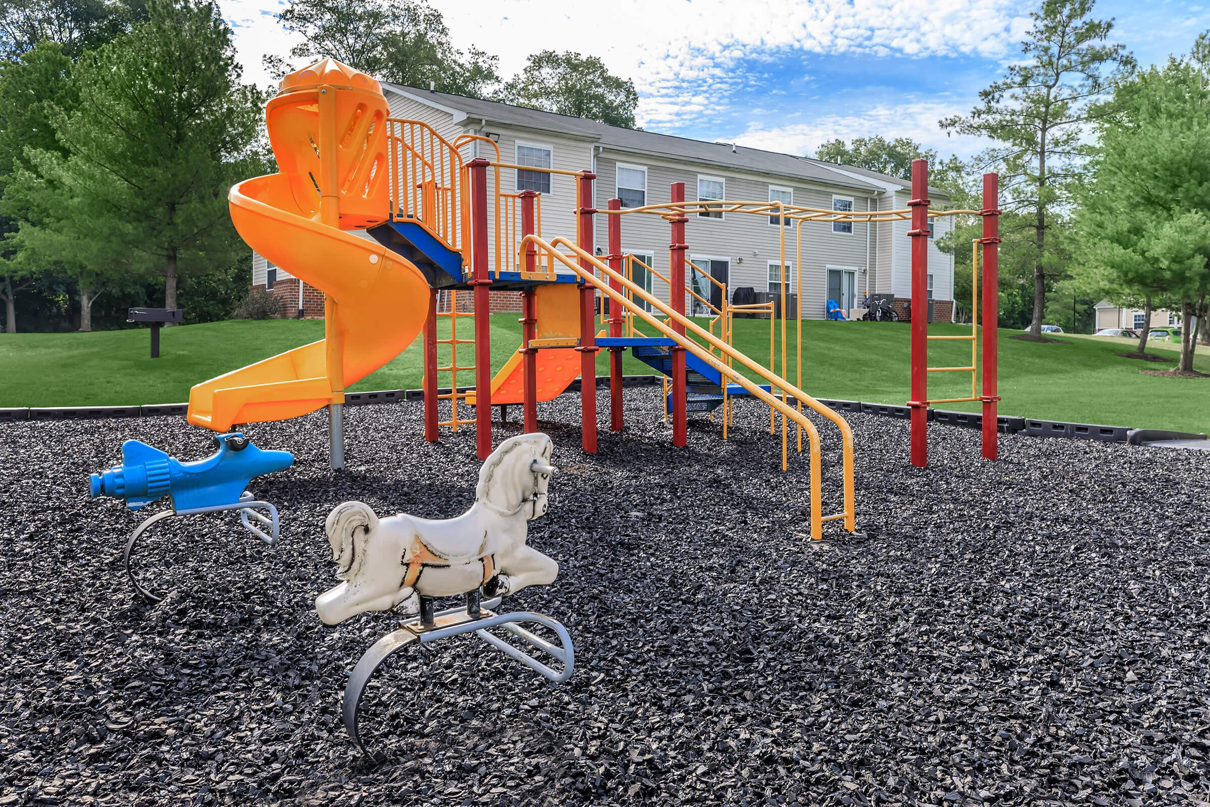 a close up of a playground
