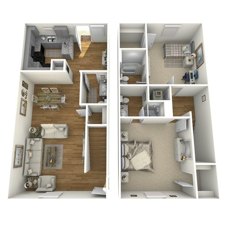 Floor plan image of B2THR