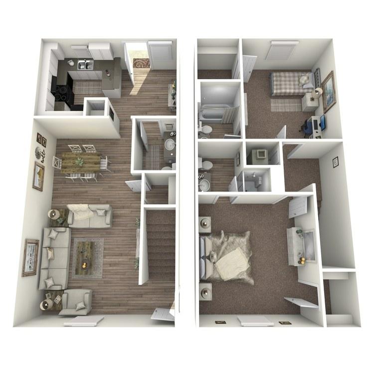 Floor plan image of B2TH