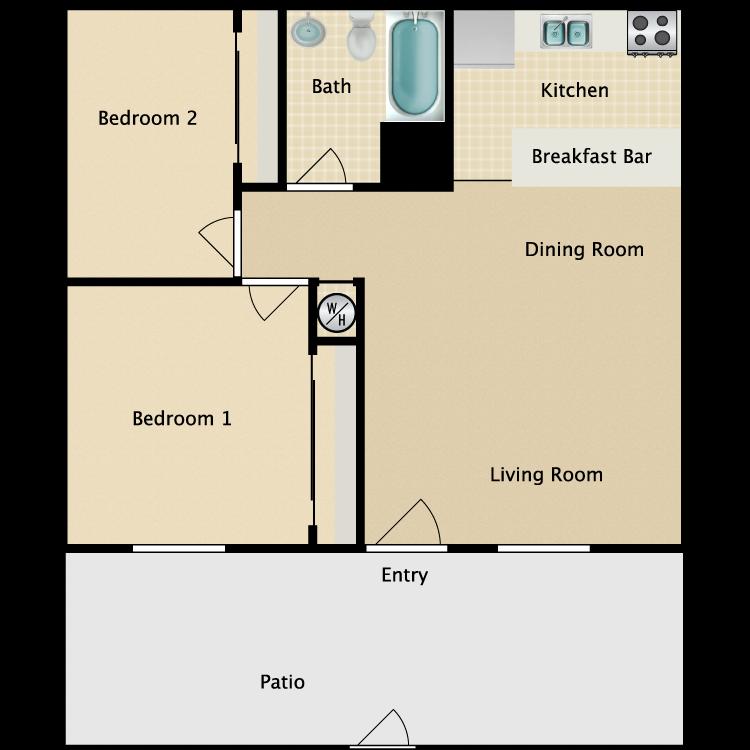 Floor plan image of West Plan B