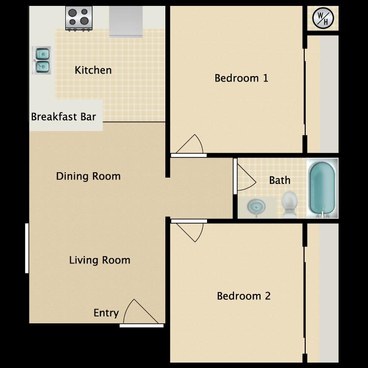 Floor plan image of East Plan B