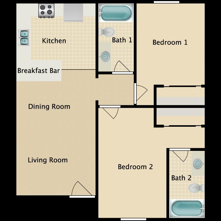 Floor plan image of East Plan C