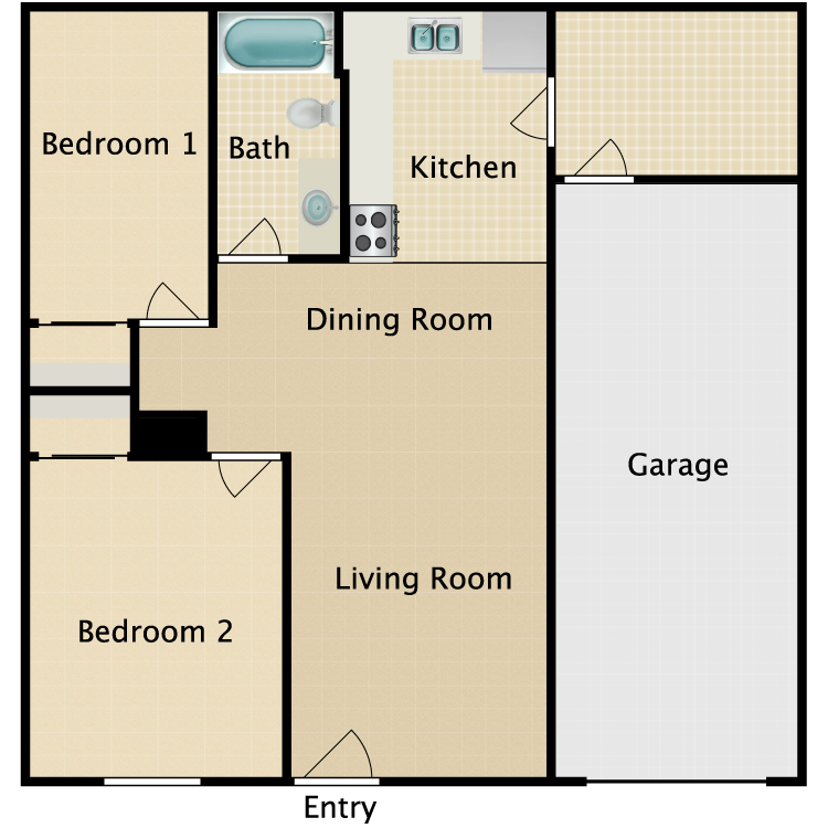 Floor plan image of East Plan A