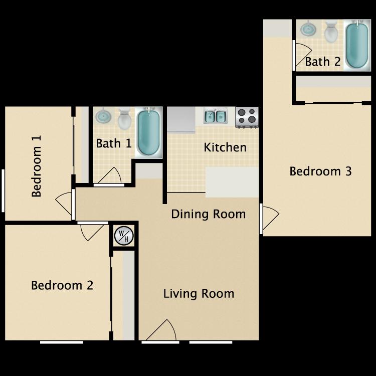 Floor plan image of West Plan D