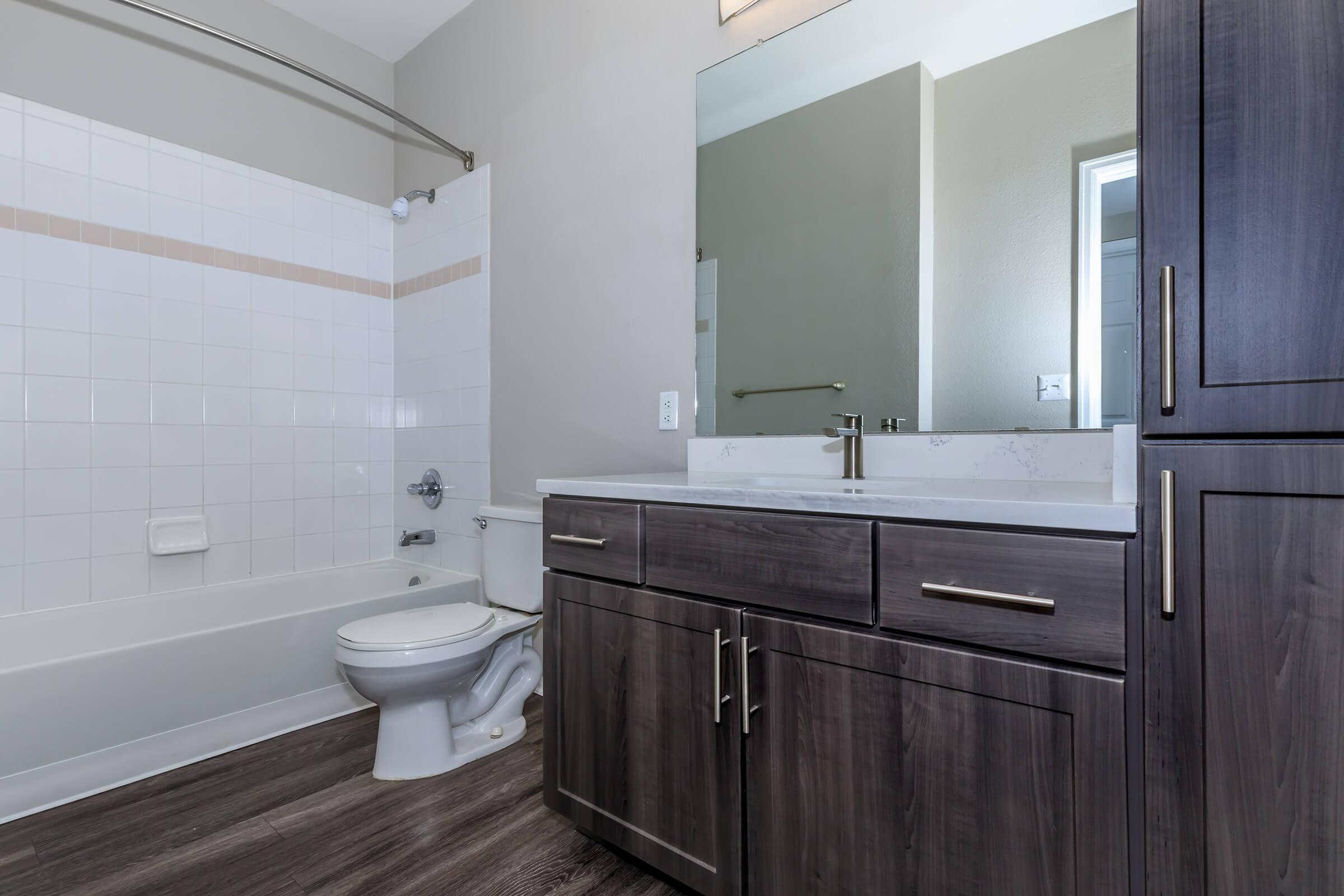 UPGRADED BATHROOM CABINETRY AT THE DAKOTA AT GOVERNOR'S RANCH